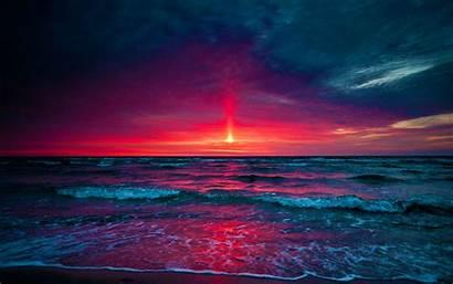 Sunset Purple Resolution Sea Cat Itl
