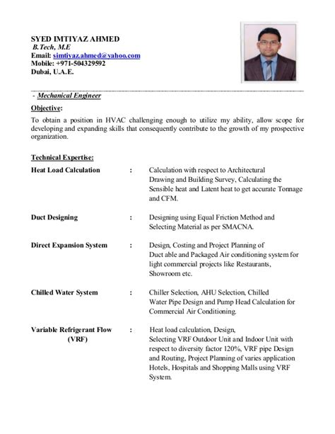 Hvac Project Engineer Resume Format by Hvac Project Engineer Sle Resume Haadyaooverbayresort