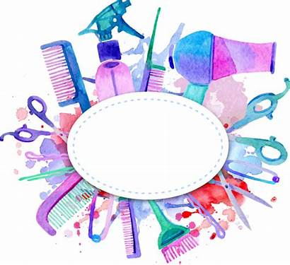 Hairdresser Beauty Parlour Tool Vector Box Clipart