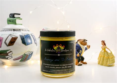 Beauty And The Beast Disney Inspired Romantic Candle