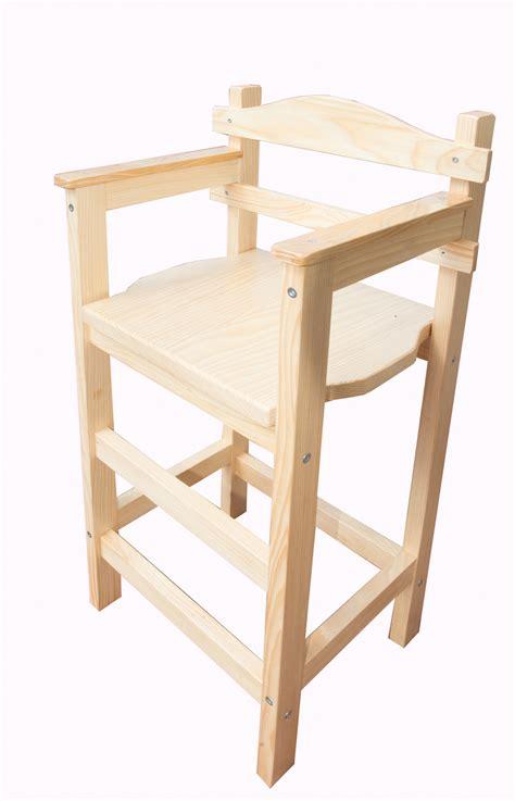 bois de la chaise chaise haute enfant sagard en bois vernie meubles et