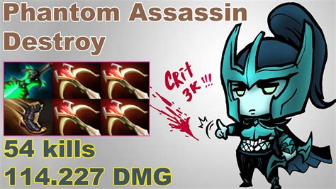 phantom assassin destroy amazing build with 4 daedalus dota 2 gameplay 2017 youtube