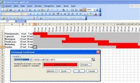 Blogs Exle Criando Um Diagrama De Gantt No Excel Tom 225 S V 225 Squez
