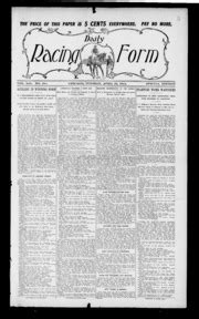 daily racing form n tuesday april 1913 daily racing form free download streaming