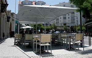 maxisoco grand parasol a mat central alu jardin et terrasse With grand parasol de terrasse