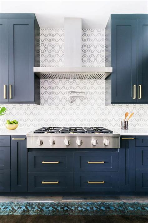 Alyssa Rosenheck: Blue Shaker Kitchen Cabinets with Long