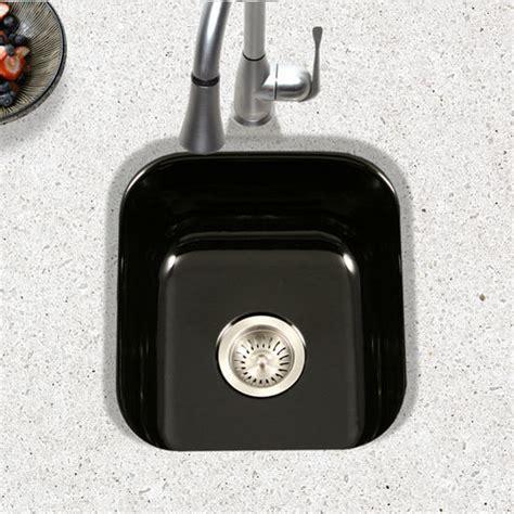 undermount bar sink black ex pcb 1750 porcela collection porcelain enamel steel