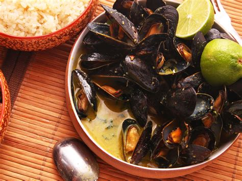 how to make steamed mussels with a thai curry coconut broth serious eats