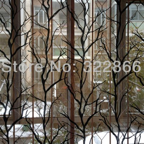 free shipping tree branch floral window tulle curtains