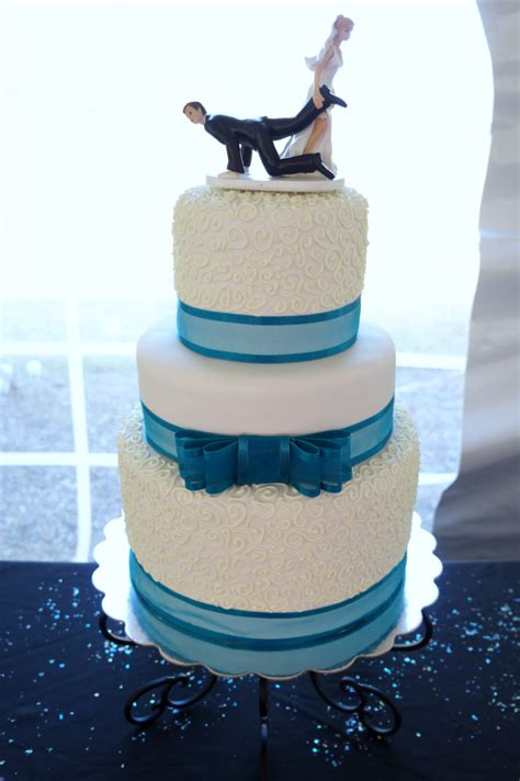 turquoise white wedding  baking fairy