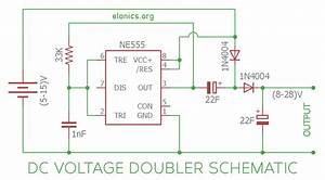 Dc Voltage Doubler Circuit Using 555 Timer Ic