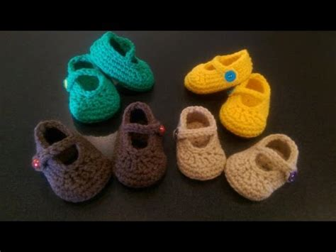crochet mary jane baby booties slippers