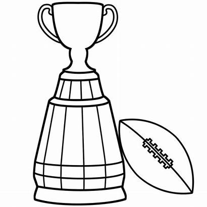 Bowl Coloring Super Pages Trophy Football Cup