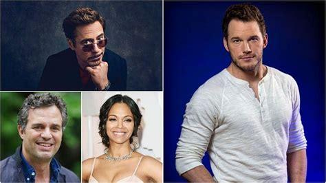 Robert Downey Jr, Mark Ruffalo and Zoe Saldana among ...