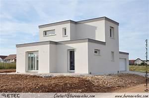 maison toit terrasse hauteville 1 etec With plan de maison a etage 5 maison toit terrasse hauteville 2 etec