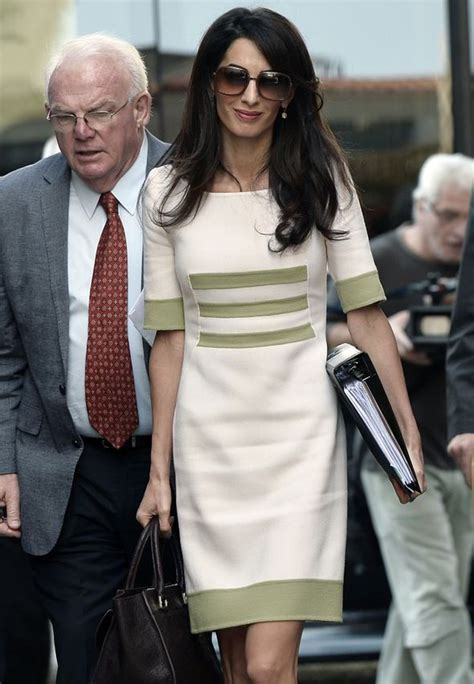 amal clooney court celebrity express outfit down