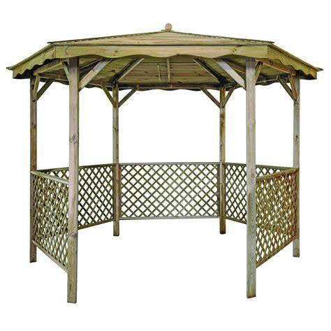 tonnelle en bois tonnelle hexagonale en bois diam 232 tre 320 cm lora jardipolys bricozor