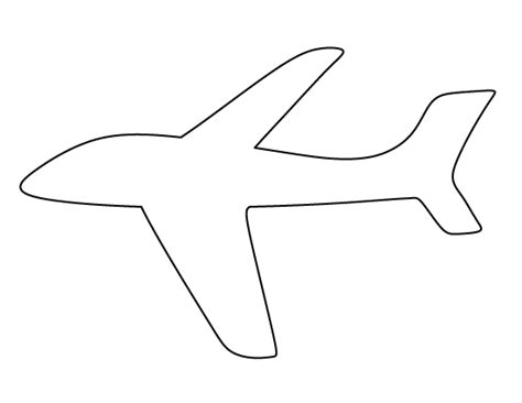 Airplane Cut Out Template Templates Clipart Airplane Pencil And In Color Templates