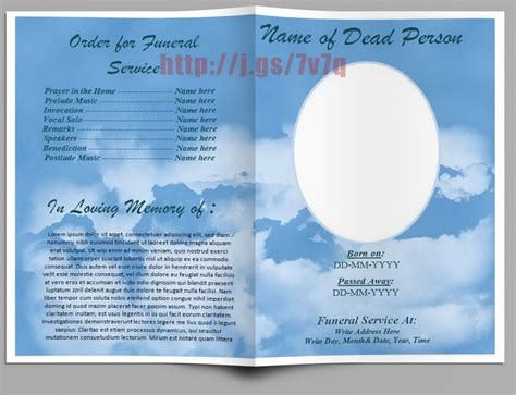 funeral program templates  ms word