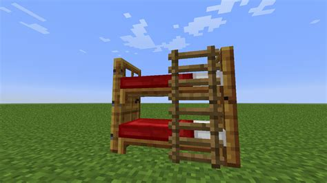 How To Make A Double Boat In Minecraft by Detail Bunk Bed Minecraft