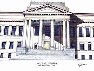 University Of Utah Drawing by Frederic Kohli