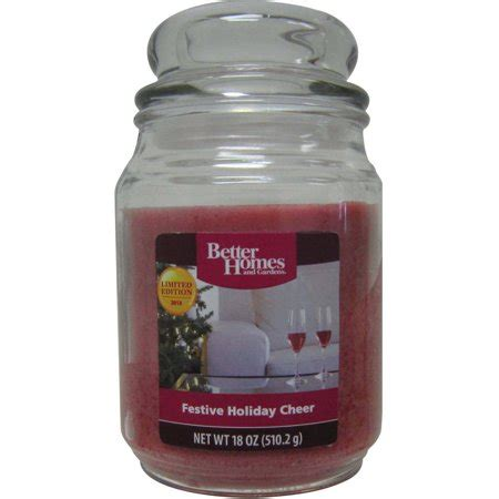 better homes and gardens candles better homes and gardens 18 oz candle festive