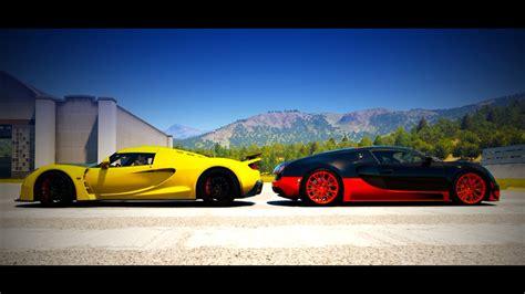 Bugatti Veyron Ss Vs. Hennessey