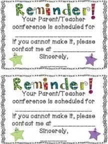 conference reminder note  terra kubert teachers