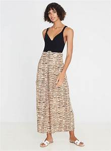 Lena Wide Leg Pants Wyldie Animal  U2013 Faithfull The Brand