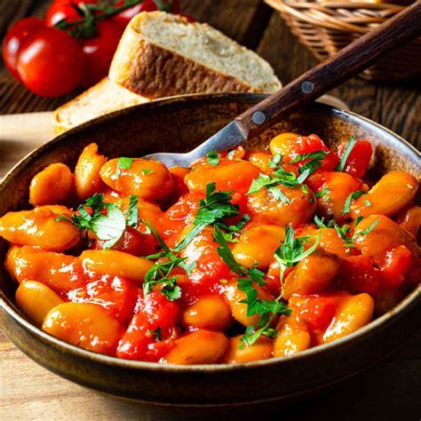 Türkische Riesenbohnen in Tomatensauce - Vegetarische Rezepte