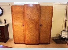 ART DECO TRIPLE WARDROBE Antiques Atlas