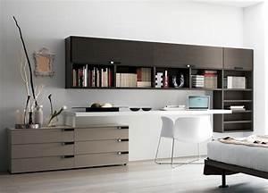 Home office furniture composition 20 home office desks for Modern home office furniture