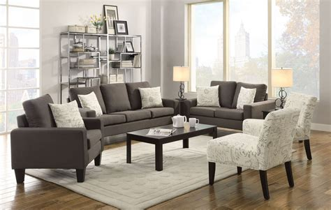 Livingroom Set by Bachman Grey Living Room Set From Coaster 504764