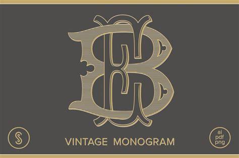 monogram eb monogram logo templates creative market