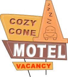 sally's cozy cone motel sign | idea|kid's party ...