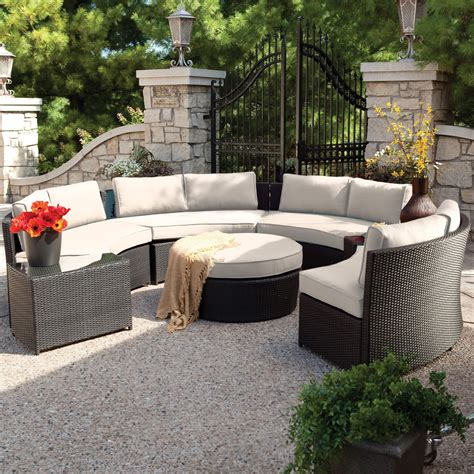 furniture best outdoor sectional sofa with rattan frames
