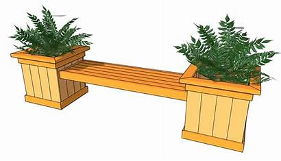 Plans Bench Planter Flower Woodworking Wooden Planters