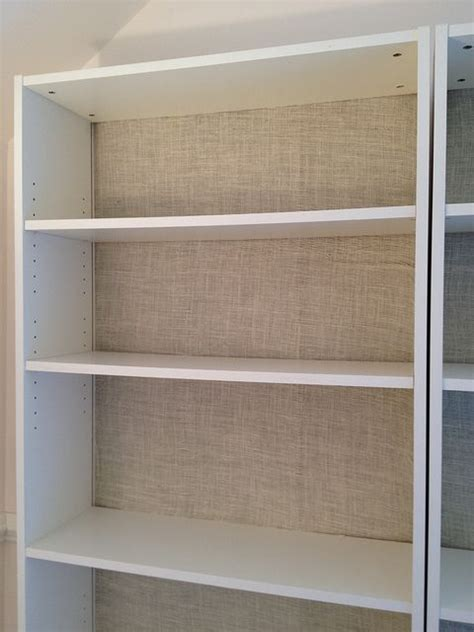 how to paint back of bookcase paint bookshelves cover back oyster burlap from hobby