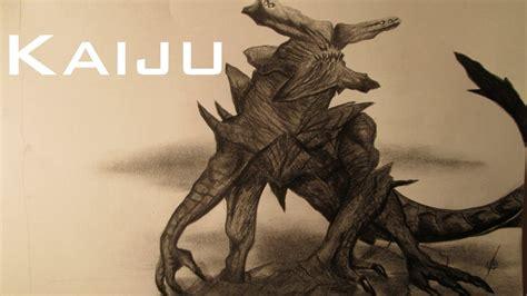 dibujando  kaiju de pacific rim dibujo de  monstruo