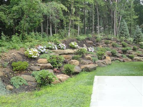 how to landscape a hill natural steep slope landscaping ideas klein s lawn landscaping landscapes designed