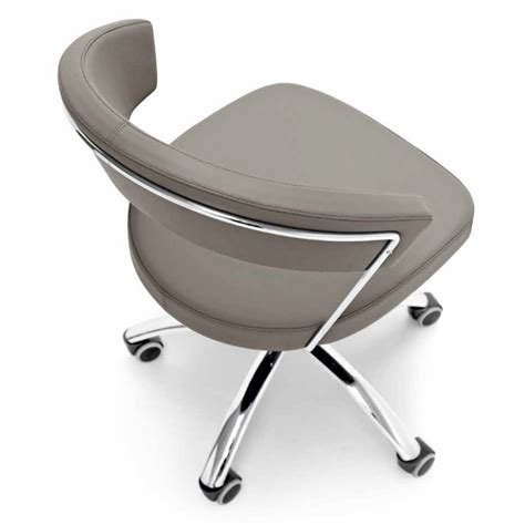 calligaris new york chaise de bureau cuir ou simili cuir