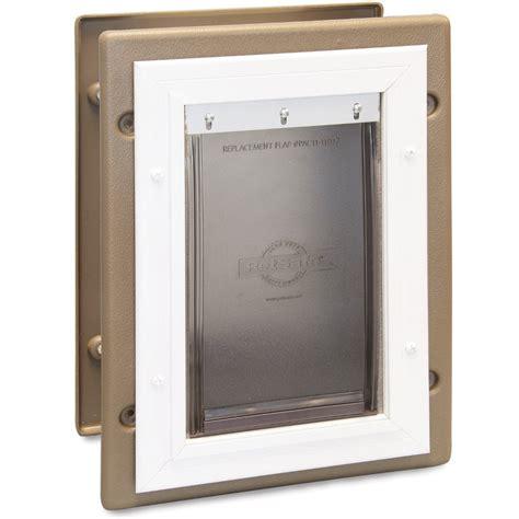 petsafe wireless collar wall entry aluminum pet door by petsafe grp wall