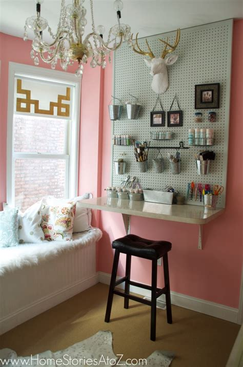 craft room reveal sherwin williams hopeful pink
