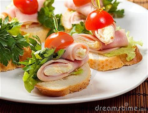what does canape ham canape canapes open sandwiches