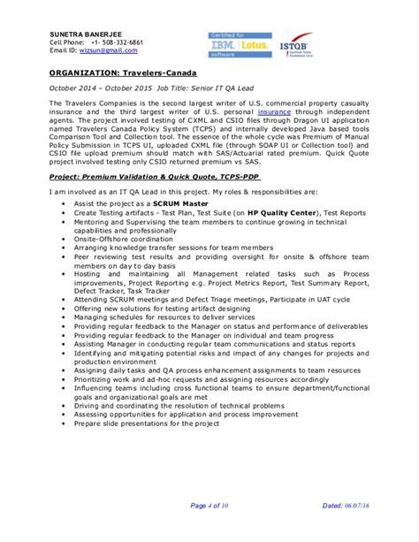 qa lead resume 28 images abhra qa lead istqb 8y exp