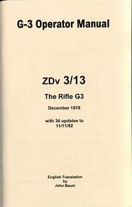 G3 Rifle Manual Pdf