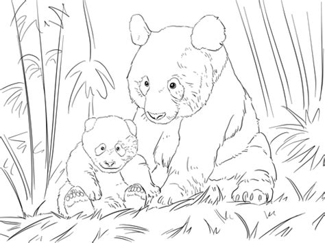 cute panda family coloring page supercoloringcom
