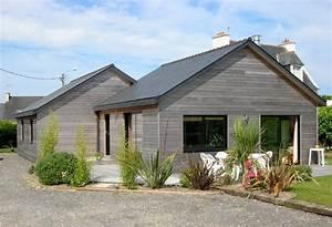 maison en bois plain pied maison bois rf prs de morcenx With superb plans de maison moderne 2 maison bois plein pied avec bardage canexel nos maisons