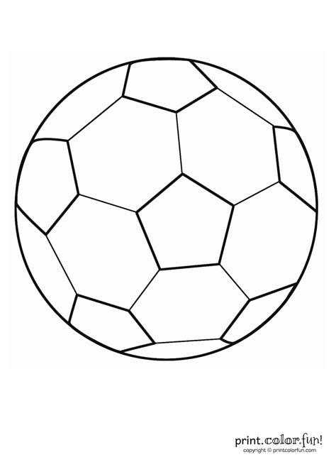 soccer ball coloring page print color fun
