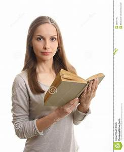 Woman Reading A Book, Isolated Royalty Free Stock Photo ...